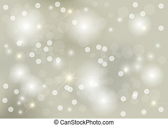 Bright silver christmas background with dots