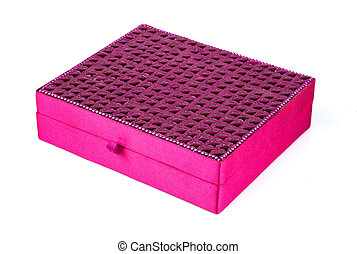 Bright simple magenta box for make-up, jewelry, decorations ...
