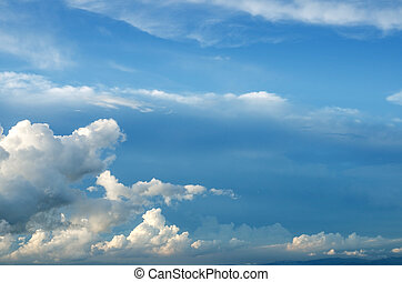 Clouds, a view from top of mountain