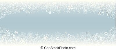 bright snowy winter border background