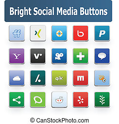 Bright Social Media Buttons 2