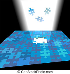 Bright solution shines up as jigsaw puzzle pieces