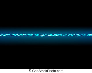 Bright sound wave on a dark blue. EPS 10