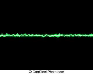 Bright sound wave on a dark green. EPS 10