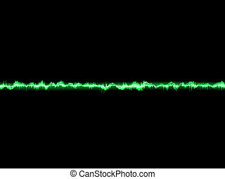 Bright sound wave on a dark green. EPS 10