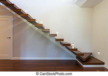 Bright space - modern staircase