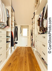 Bright spacious closet - View of bright spacious closet in...