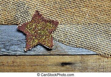 Bright sparkling star, pallet, mesh