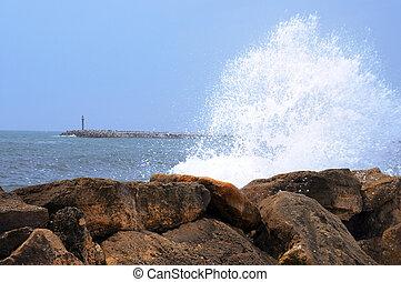 Bright splashes of the sea