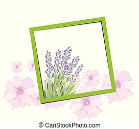 Bright spring banners design. Frame background