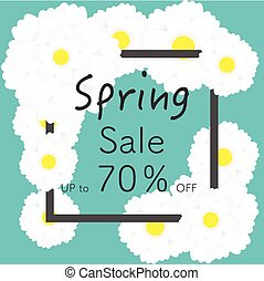 Bright spring banners design.