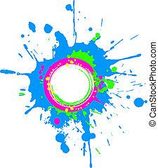Bright spring circular grunge frame