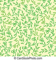 bright spring flowers seamless patt