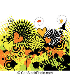 Bright spring grunge background