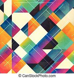 Bright squares seamless pattern