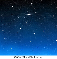 a single bright wishing star stands out from all the rest