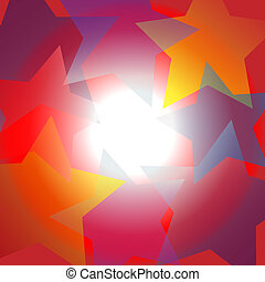 Bright star center spotlight abstract background