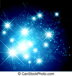 Bright Star Holiday Background - New Year and Christmas...