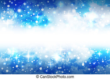 Bright Star Space Background with Sparkles - A very bright,...