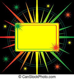 Bright starburst abstract background - Star burst in shades...