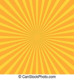 Bright starburst (sunburst) background with regular...