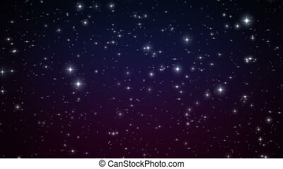 Bright Stars in Deep Space. Looped Animation. Beautiful...