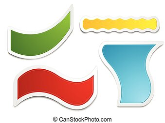 Bright stickers labels set