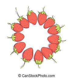 bright strawberries background