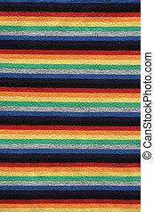 Bright striped fabric background