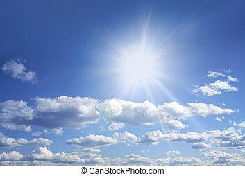 Bright sun and blue sky