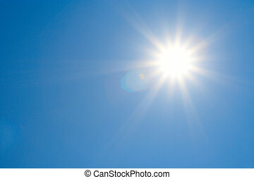 bright sun and clear sky - ideal for background. Bright sun,...