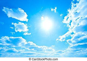 Bright sun and sky