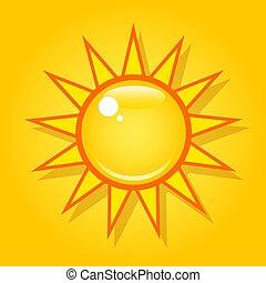 Bright sun in the sky