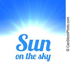 Bright sun on the sky
