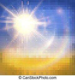 Bright sun summer background