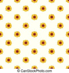 Bright sunflower pattern seamless vector