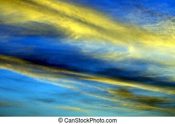 bright sunny dawn in heaven