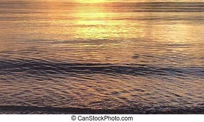 Bright sunrise over the sea and islands ,Lombok, Indonesia, south Gili islands,