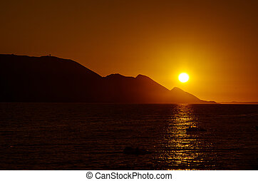 bright sunset