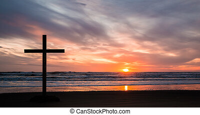 Bright Sunset Cross