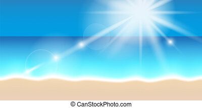 bright sunshine on the beach summer holiday background