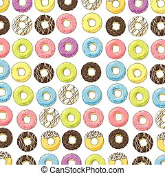 bright sweet donuts