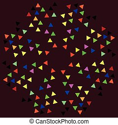 bright tags - illustration on which bright flags on a black...