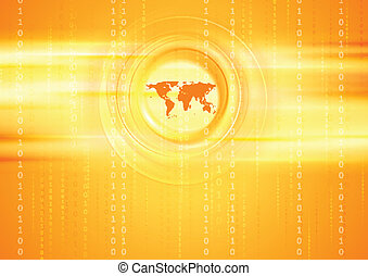 Bright tech abstract background