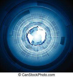 Bright technology blue background