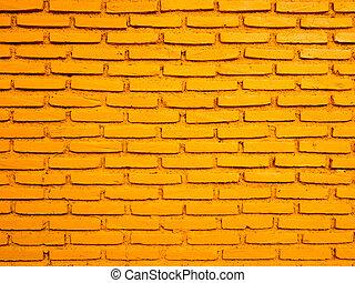 Bright texture pattern of orange red brick wall background.