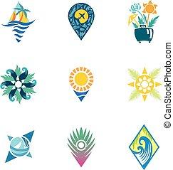 Bright Travel Icons