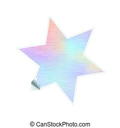 Bright trendy sticker in complicated star shape with ...