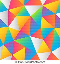Bright triangle pattern.