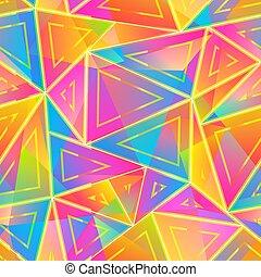 Bright triangle seamless pattern.
